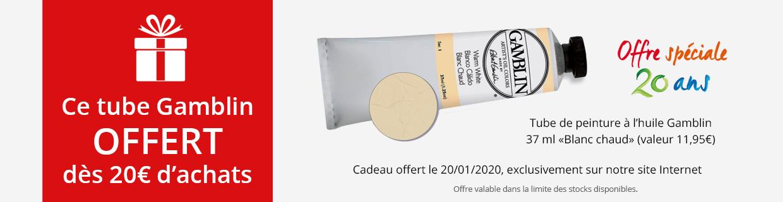 Offre du 20 janvier 2020 : 99925127 offert dès 20€ d'achats