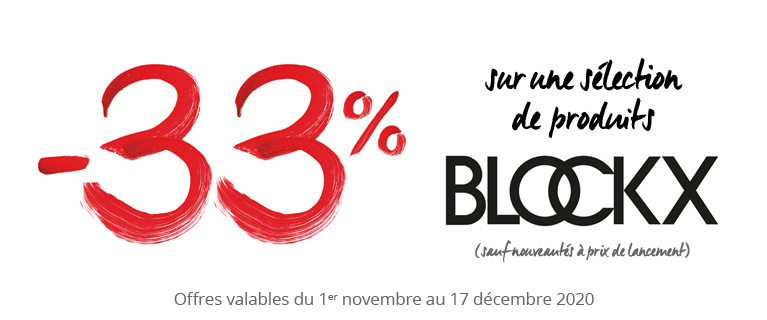 -33% sur une sélection de produits Blockx