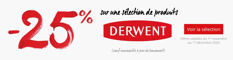 -25% sur une sélection de produits Derwent