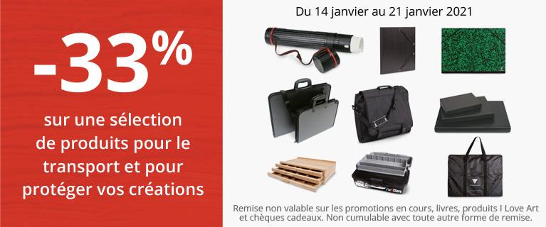 -33% sur une sélection de produits pour le transport et la protection