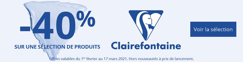 -40% sur une sélection de produits Clairefontaine