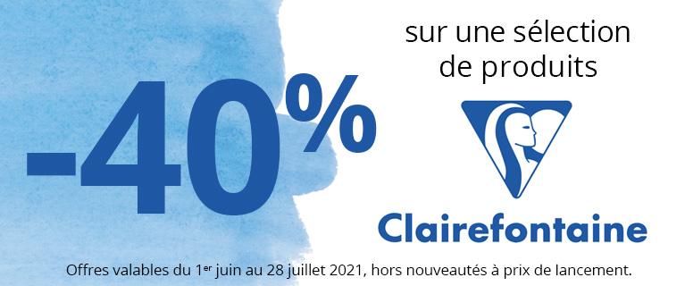 -40% sur une sélection de produits plein air Clairefontaine