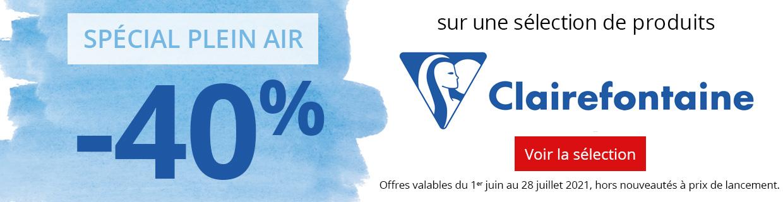 -40% sur une sélection plein air de produits Clairefontaine