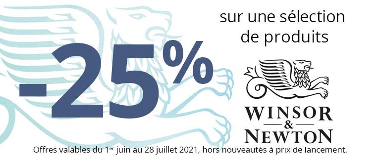 -25% sur une sélection de produits Winsor & Newton