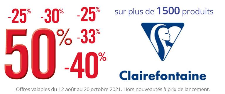 Rentrée 2021 - Vitrine Clairefontaine