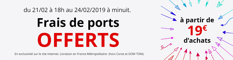 Frais de port offerts dès 19€ d'achats !