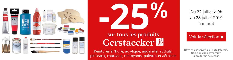 -25% sur une sélection de produits Gerstaecker