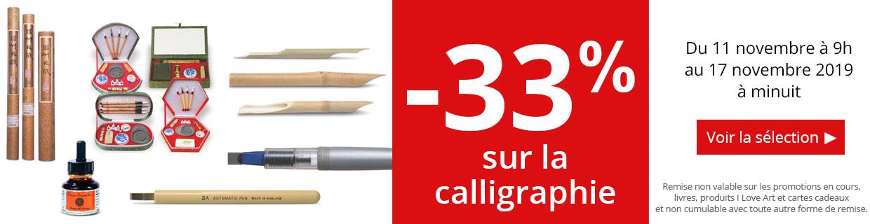 -33% sur une sélection de produits pour la calligraphie