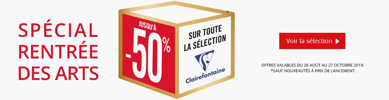 Jusqu'à -50% sur une sélection de produits Clairefontaine