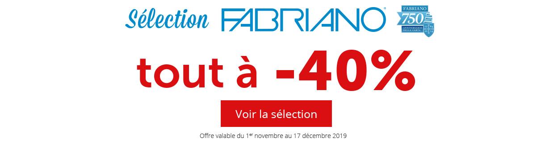 -40% sur une sélection de produits Fabriano
