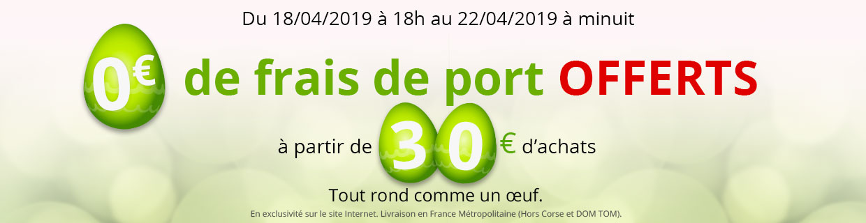 Frais de port offerts dès 30€ d'achat !