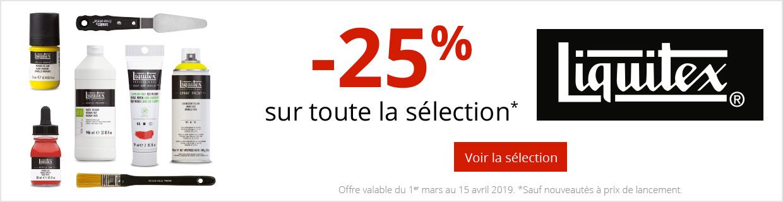 -25% sur une sélection de produits Liquitex.