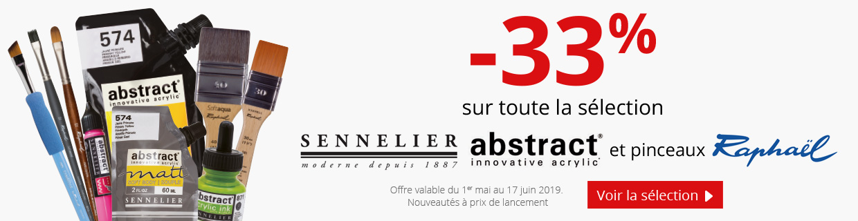 Jusqu'à -33% sur une sélection de produits Sennelier, Abstract et Raphael