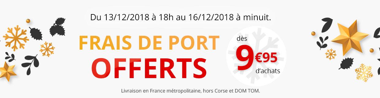 Frais de port offerts dès 9,95€ d'achats